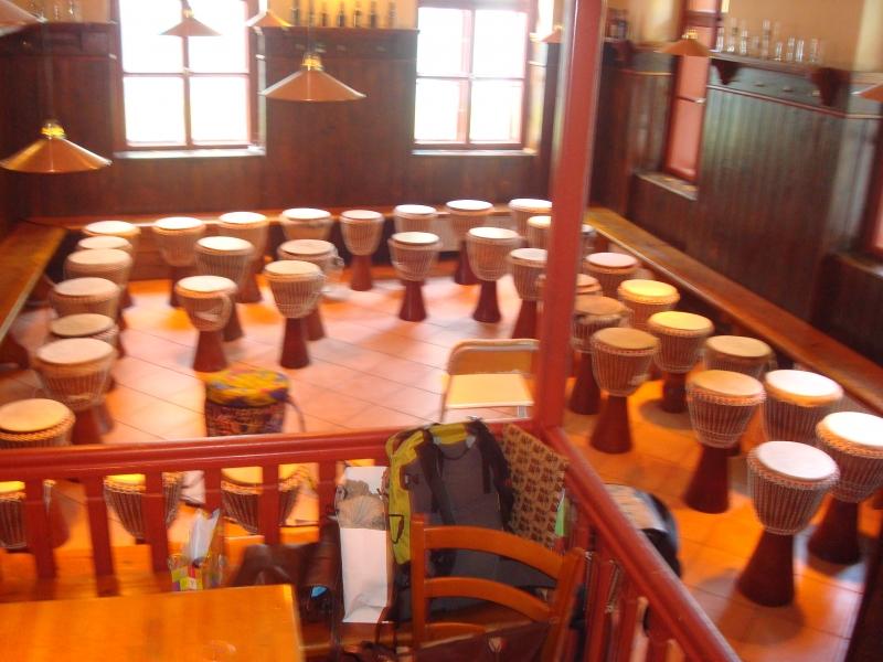 Drummotion Trommelworkschop mit Erwachsene beim Bamkraxler