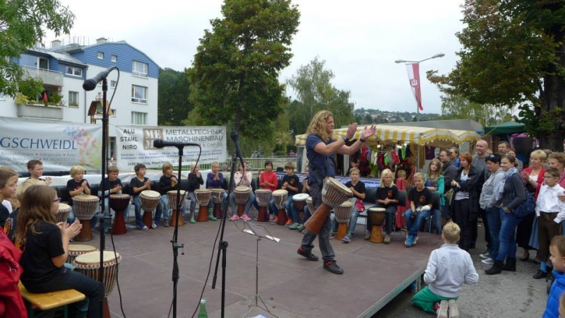 Drummotion live beim Stadtfest Kierling