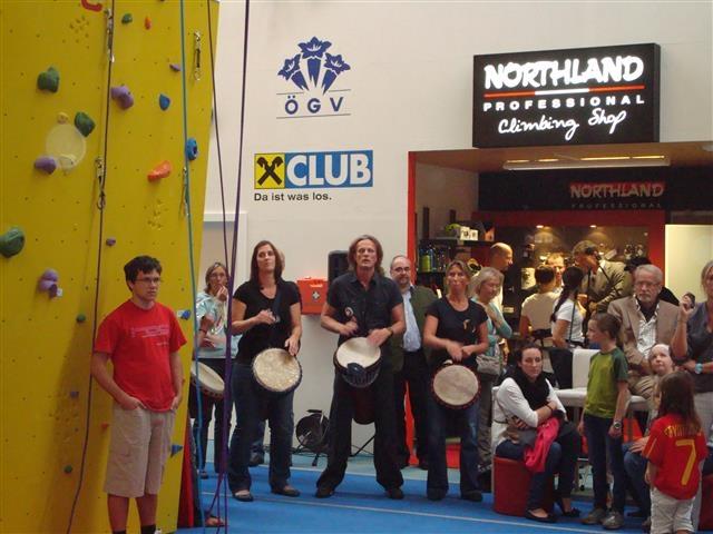 Drummotion & Powerangels live Marswiese eröffnung