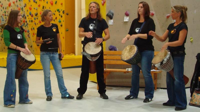 Drummotion & Powerangels live Nordwand eröffnung
