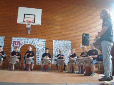 Werner Haller, Drummotion,Trommelworkshop,Volksschule Klosterneuburg